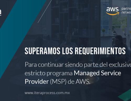 Itera consigue por tercera vez consecutiva la denominación de AWS Managed Service Provider